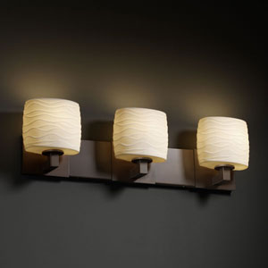 Limoges Modular Three-Light Dark Bronze Bath Fixture
