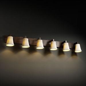 Limoges Modular Six-Light Antique Brass Bath Fixture
