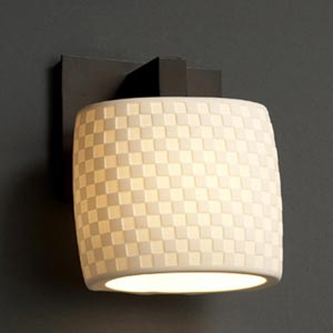 Checkerboard Oval Sconce