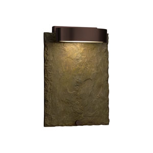 Slate - Litho Dark Bronze LED Outdoor Wall Sconce with Earth Natural Slate