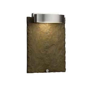 Slate - Litho Brushed Nickel LED Outdoor Wall Sconce with Earth Natural Slate