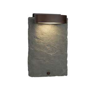Slate - Litho Dark Bronze LED Outdoor Wall Sconce with Natural Slate