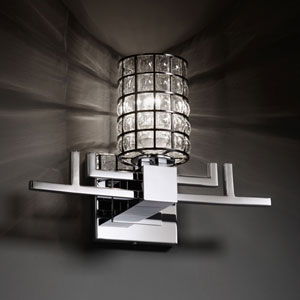 Wire Glass Aero Polished Chrome Wall Sconce
