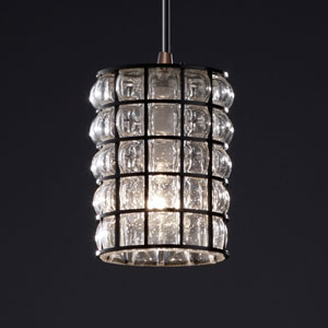 Wire Glass Modular Dark Bronze Mini Pendant