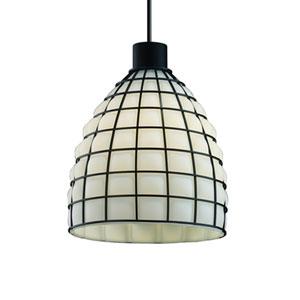Wire Glass™  Matte Black One-Light Pendant