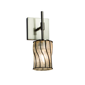 Wire Glass Brushed Nickel 4.5-Inch LED Wall Sconce