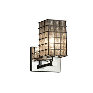 Wire Glass  Polished Chrome 6-Inch LED Wall Sconce