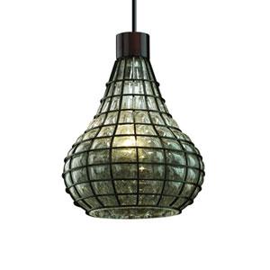 Wire Glass™  Dark Bronze One-Light Pendant