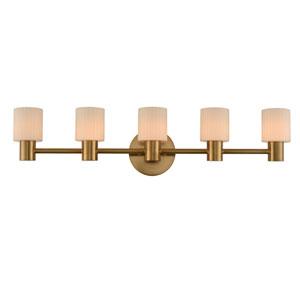 Harlowe Winter Brass LED Five-Light Bath Vanity