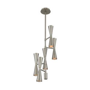 Milo Satin Nickel 10-Light LED Pendant