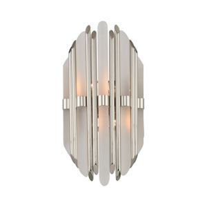 Massina Polished Nickel Two-Light Sconce