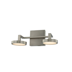 Eaton Satin Nickel Two-Light LED Bath Vanity