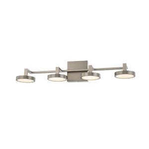 Eaton Satin Nickel Four-Light LED Bath Vanity