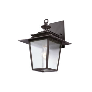 Saddlebrook Outdoor Aged Iron One-Light Wall Sconce