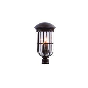 Emerson Outdoor Burnished Bronze Three-Light Post Mount