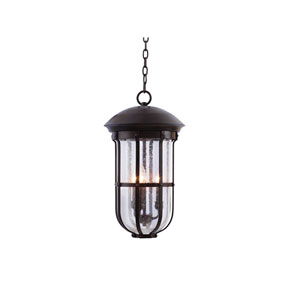 Emerson Outdoor Burnished Bronze Three-Light Outdoor Hanging Lantern