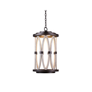Belmont Outdoor Florence Gold One-Light Outdoor Hanging Lantern