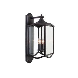 Lakewood Outdoor Aged Iron Four-Light Wall Sconce