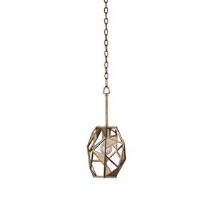 Esmeralda Pearlized Antique Brass One-Light Mini Pendant