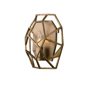 Esmeralda Pearlized Antique Brass One-Light Sconce