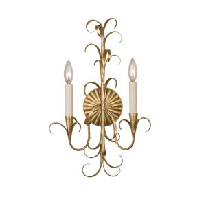 Ainsley Gold Leaf Two-Light Wall Sconce