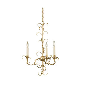 Ainsley Gold Leaf Three-Light Chandelier