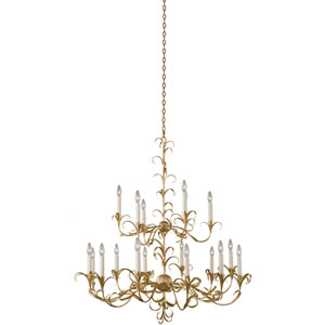 Ainsley Gold Leaf 18-Light Chandelier