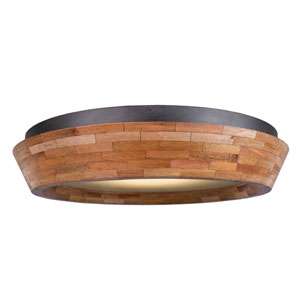 Lansdale Black Iron 18-Inch One-Light Flush Mount