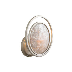 Garbo Sunrise Silver One-Light Wall Sconce