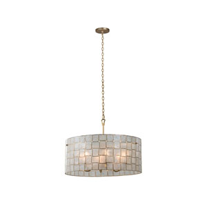 Roxy Gold Leaf 27-Inch Six-Light Pendant