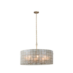 Roxy Gold Leaf Eight-Light Pendant