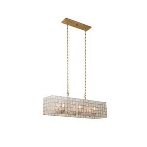 Roxy Gold Leaf Six-Light Island Pendant