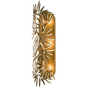Jardin Gold Leaf Three-Light Sconce