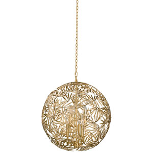 Jardin Gold Leaf Six-Light Pendant