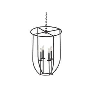 Newhall Black Iron Four-Light Pendant