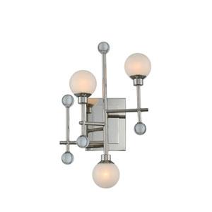 Mercer Polished Nickel Three-Light LED Wall Sconce