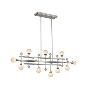 Mercer Polished Nickel 10-Light LED Island Pendant
