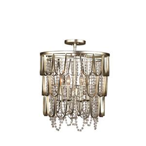 Dulce Champagne Silver Leaf Four-Light Pendant