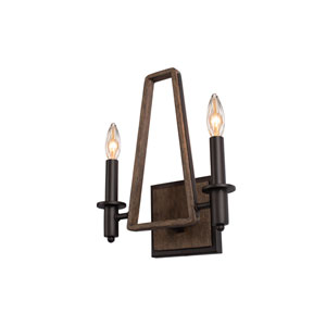 Duluth Satin Bronze Two-Light ADA Wall Sconce