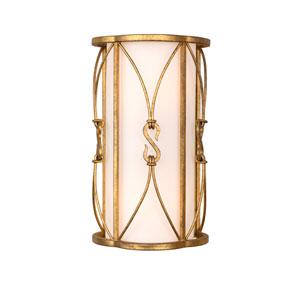 Olivia Oxidized Gold Leaf Two-Light Wall Sconce