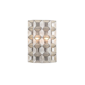 Prado Oxidized Silver Leaf Two-Light ADA Wall Sconce