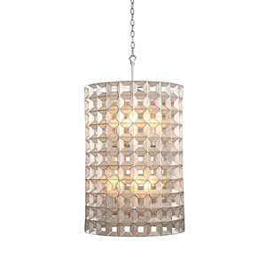 Prado Oxidized Silver Leaf 20-Inch Six-Light Pendant