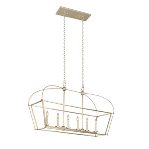Sutter Warm Silver Six-Light Island Pendant
