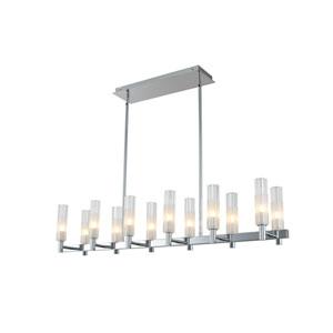 Lorne Chrome 12-Light LED Island Pendant