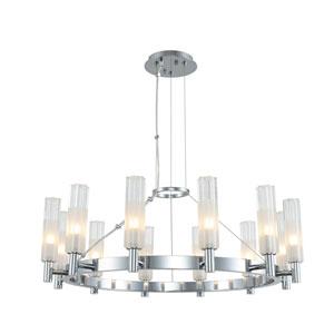 Lorne Chrome 12-Light LED Chandelier