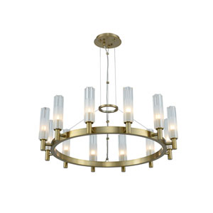 Lorne Winter Brass 12-Light LED Chandelier