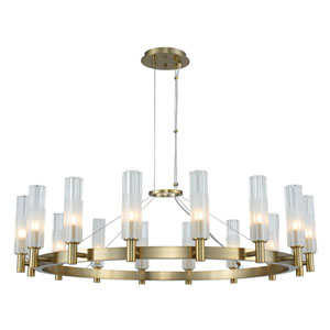 Lorne Winter Brass 16-Light LED Chandelier