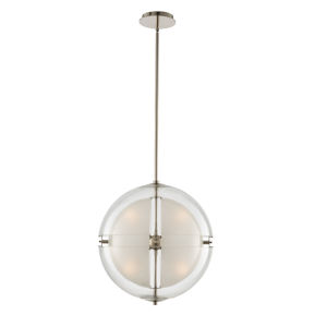 Sussex Polished Nickel 14-Inch Four-Light LED Pendant