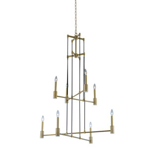 Kingston Winter Brass Eight-Light Chandelier