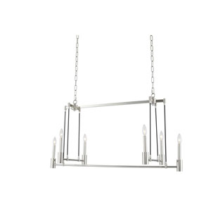 Kingston Polished Nickel Six-Light Island Pendant